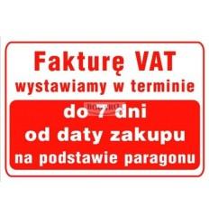 Znak tablica TI-07 Fakturę...