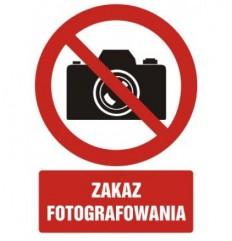 Zakaz fotografowania znak BHP