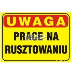 Znak tablica PRACE NA...