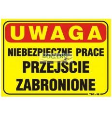 Znak tablica UWAGA...