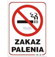 Znak Naklejka TBI-26N Zakaz...
