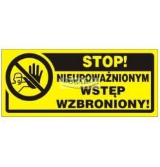 Znak Tablica TBI-14 Stop!...