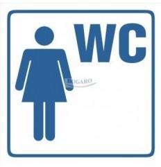 Znak NAKLEJKA WC Damski TI-95
