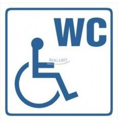 Znak NAKLEJKA WC dla...