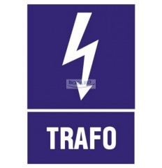 Znak Naklejka TRAFO 5x7cm...