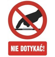 Znak Naklejka 10x14 cm NIE...
