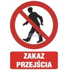 Znak Naklejka 10x14cm ZAKAZ...