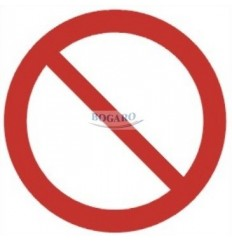 Znak Naklejka 10x10cm...