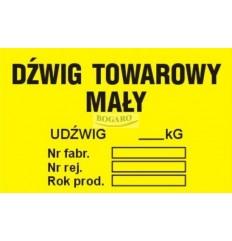 Znak naklejka TID-04 Dźwig...