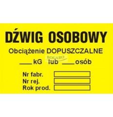 Znak naklejka TID-05 Dźwig...