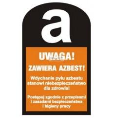 Znak naklejka UWAGA!...